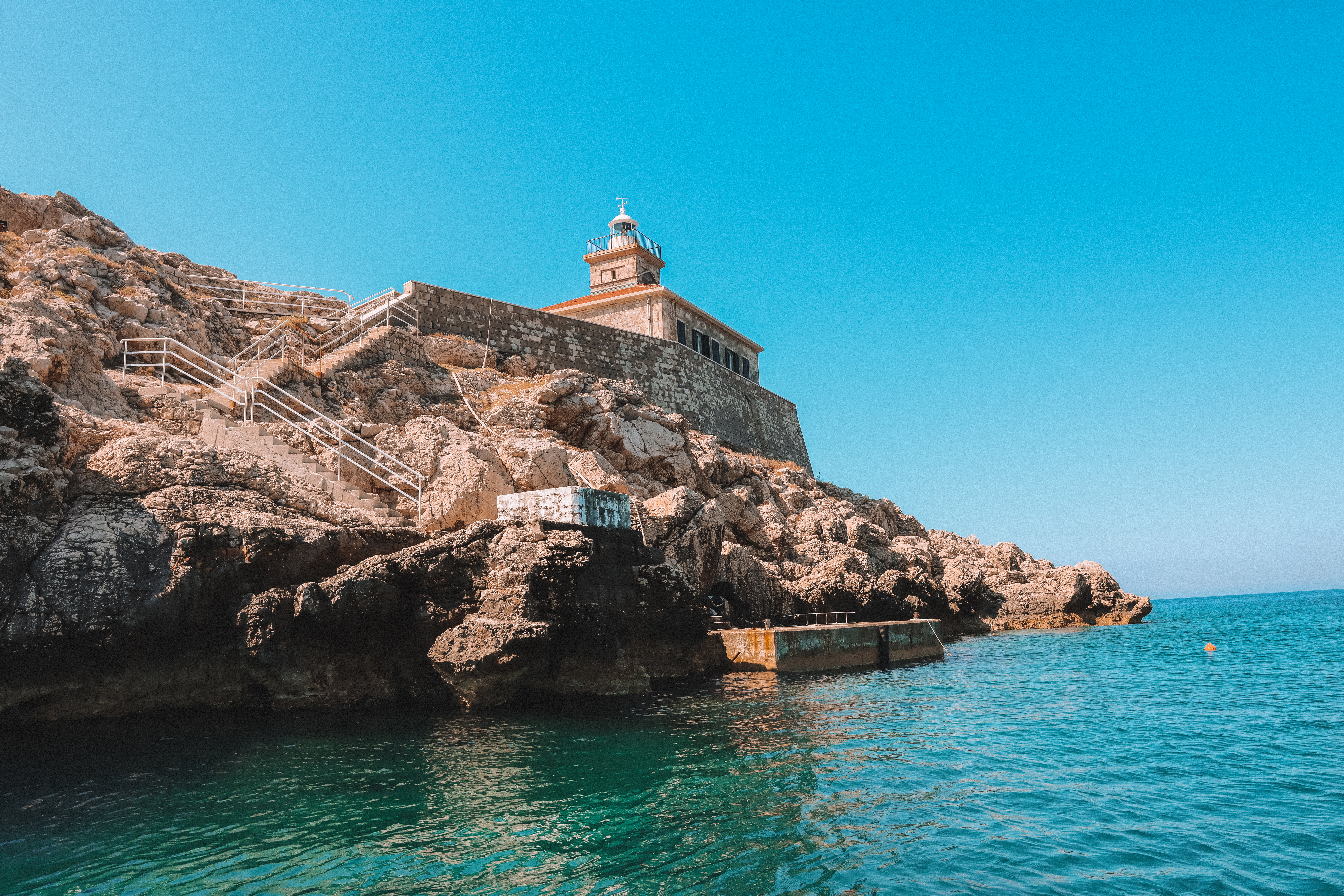 A lighthouse near the Elafiti islands. Things to do in Dubrovnik